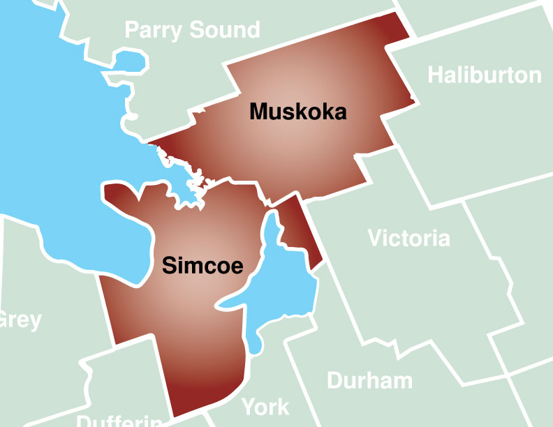 Map of Simcoe Muskoka